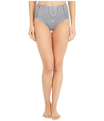 Jonathan Simkhai Azure Seersucker Stripe Bikini Bottoms (Midnight Stripe) Women