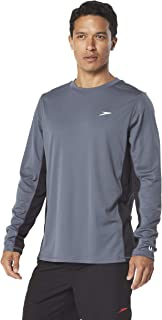 Speed Men's Long Sleeve Rash Guard Swim Shirt with UV and UPF 50+ Protection