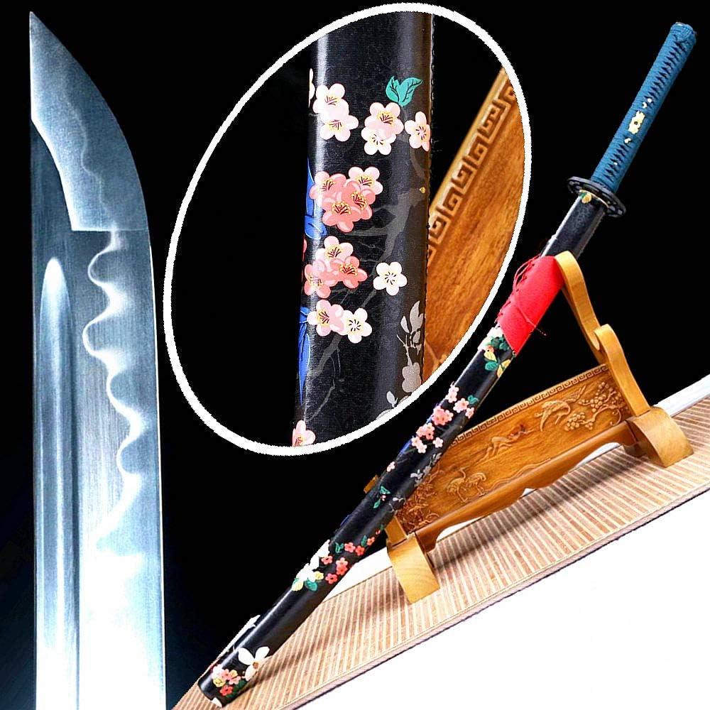 VARWANEO Leather Saya Iron Tsuba Max 52% OFF Japanese F Sword quality assurance Katana Samurai