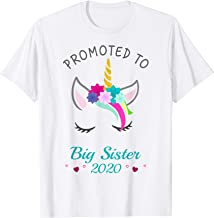 Promoted to Big Sister 2020 Unicorn T-Shirt for Girls