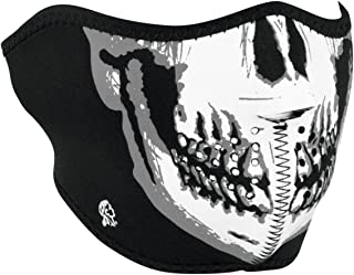 Zanheadgear WNFM002H Skull Face Adult/Unisex Half Mask BW