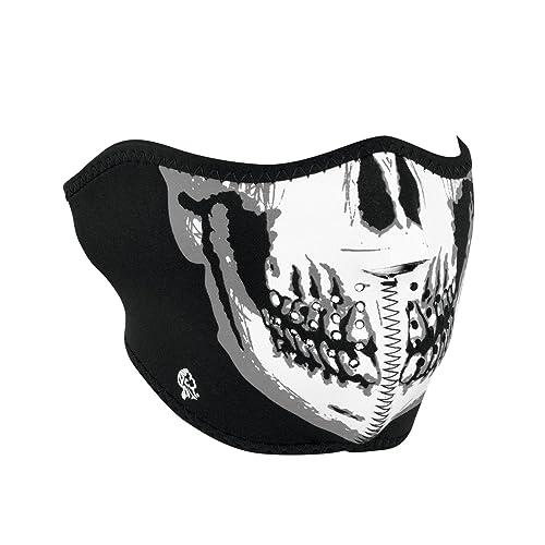 7e2d03f54e Zanheadgear WNFM002H White Black Neoprene Skull Half Face Mask