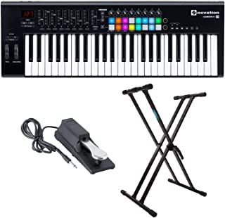 Novation Launchkey 49 MK2 Keyboard Controller with Knox Keyboard Stand and Sustain Pedal
