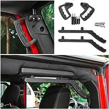 Voodonala Front & Rear Roll Bar Grab Handles Kit for 2007-2019 Jeep JK Wrangler & Unlimited (Black)