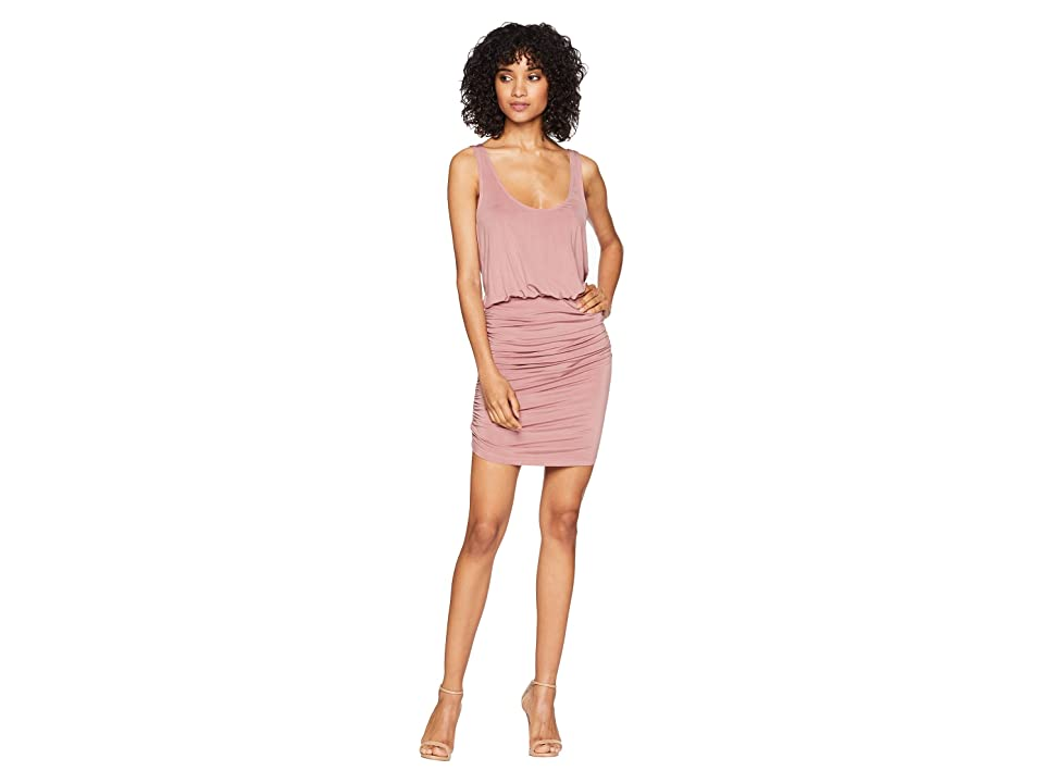 Young Fabulous & Broke Mariah Dress (Dusty Pink Solid) Women