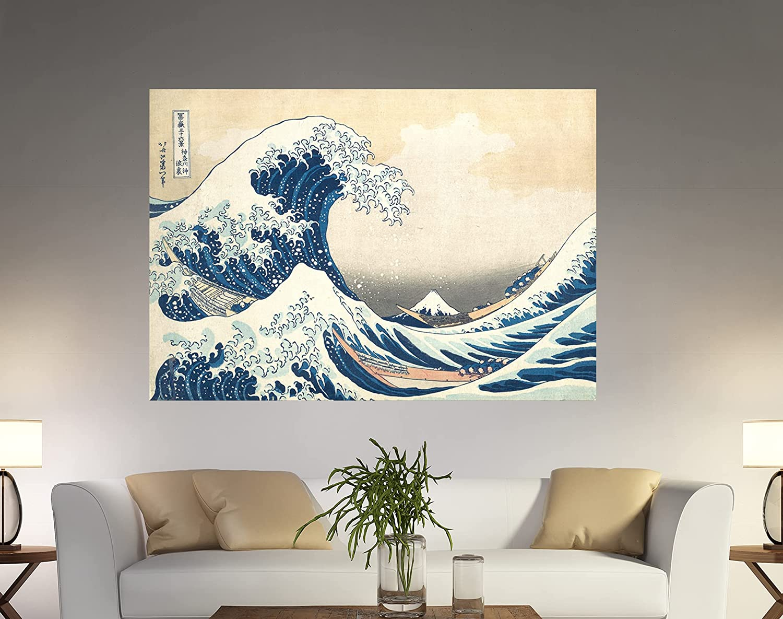 Great It is very popular Popular popular Wave off Kanagawa Painting Hokusai Wav Decor