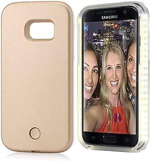 Samsung S6 Selfie Led Light Case,LNtech Rechargeable LED Light Up Flash Lighting Selfie Case Illuminated Cover for Samsung S6 (gold)