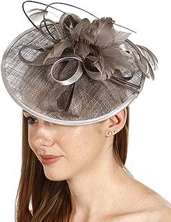 SERENITA fashion2100 Feather & Quills Sinamay Fascinator