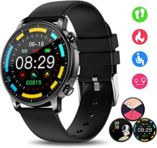 Smart Watch for Women, Smartwatches with Heart Rate Sleep Monitor All-Day Activity Fitness Tracker Calories Steps Counter Music Remote Camera Control Customize Dial IP67 Smart Watch (Black)