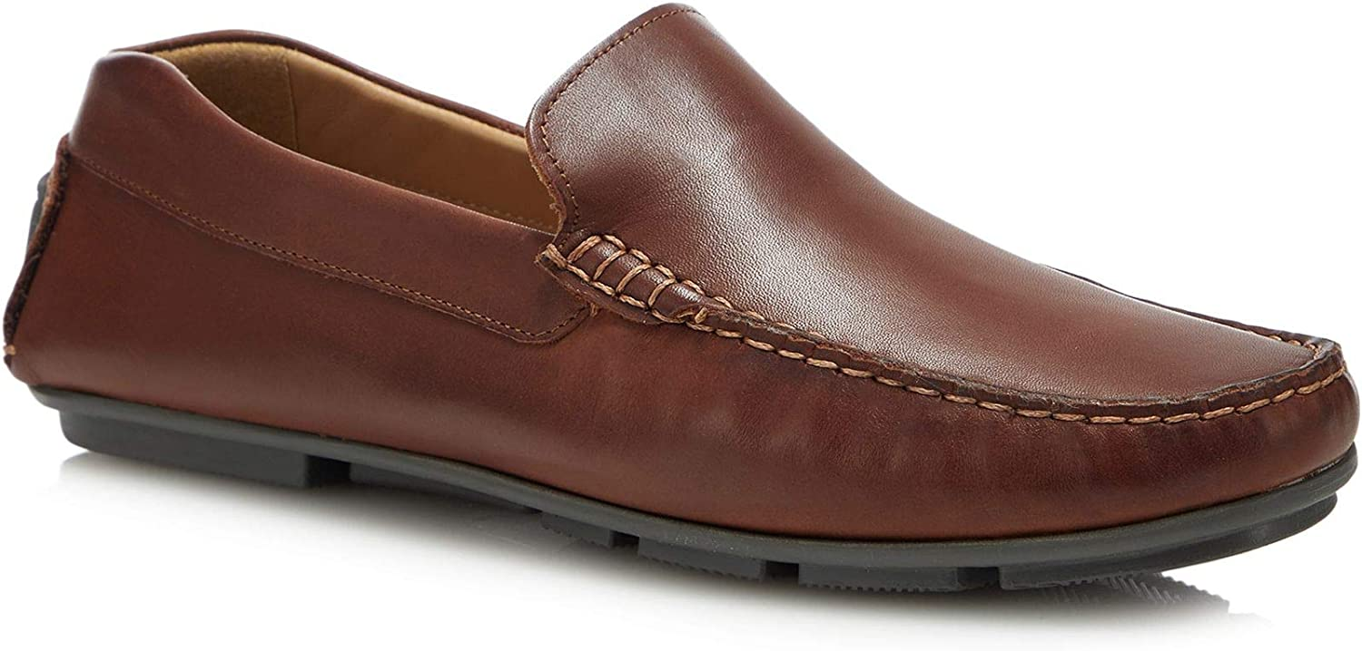 Henley Comfort Men Tan Leather 'Greg' Driving Loafers