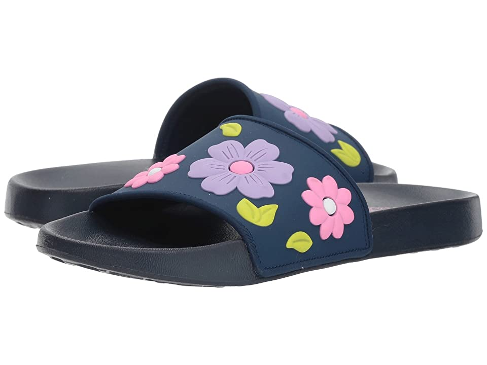 SKECHERS KIDS Sunny Slides Blossom Vibes (Little Kid/Big Kid) (Navy/Multi) Girls Shoes