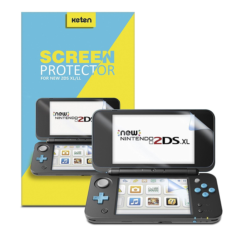 Protector de Pantalla New Nintendo 2DS XL [Pack de 3], Protector de Pantalla de Alta Definición de Cobertura Completa Keten para Nintendo 2DS XL 2017 Antirayaduras, Ultra Fino, Táctil: Amazon.es: Electrónica
