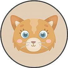 Blanketswarm Game Mat,pet Pad Comfortable/Non-Slip Carpet,Cute Sofa Blanket Thin Canvas Soft Baby Kids Round Rug Playmat C...