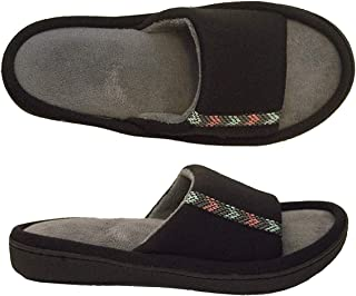 Isotoner Women's Jersey Luna Open Toe Slide Slipper