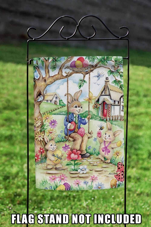 Small Toland Home Garden Easter Bunny Swing Garden Flag