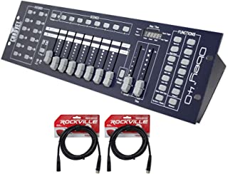 Package: Brand New Chauvet Obey 40 Universal Dmx 512 Controller with 192 Channels and Midi Compatibility + (2) Chauvet Dmx3p10ft Dmx Xlr Female to Male Dmx Cables