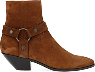 SAINT LAURENT Luxury Fashion Womens 5795820Z6006711 Brown Ankle Boots | Fall Winter 19