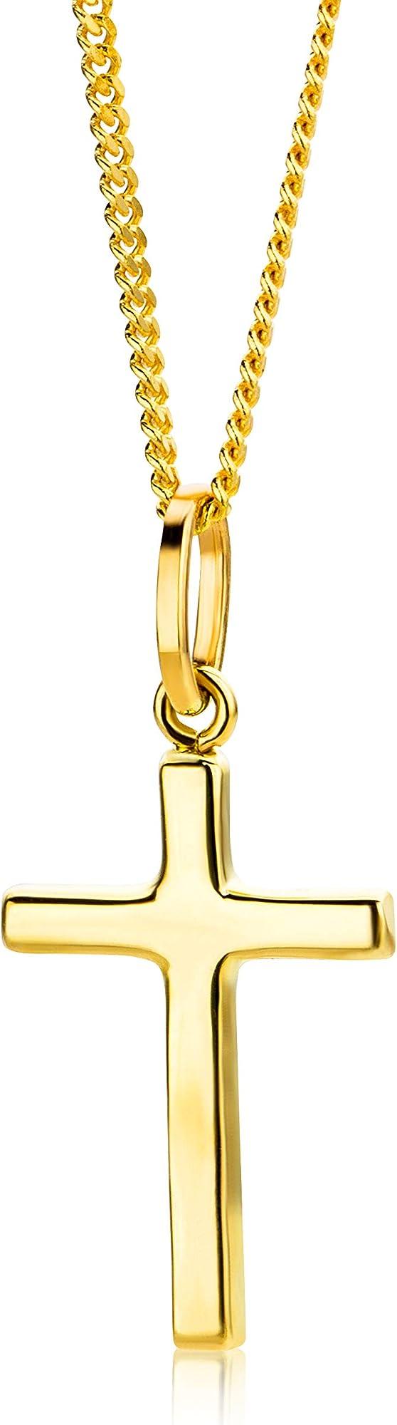 Orovi collana per donna con ciondolo croce in oro giallo  9 kt / 375  (1,35 g) OR8971N