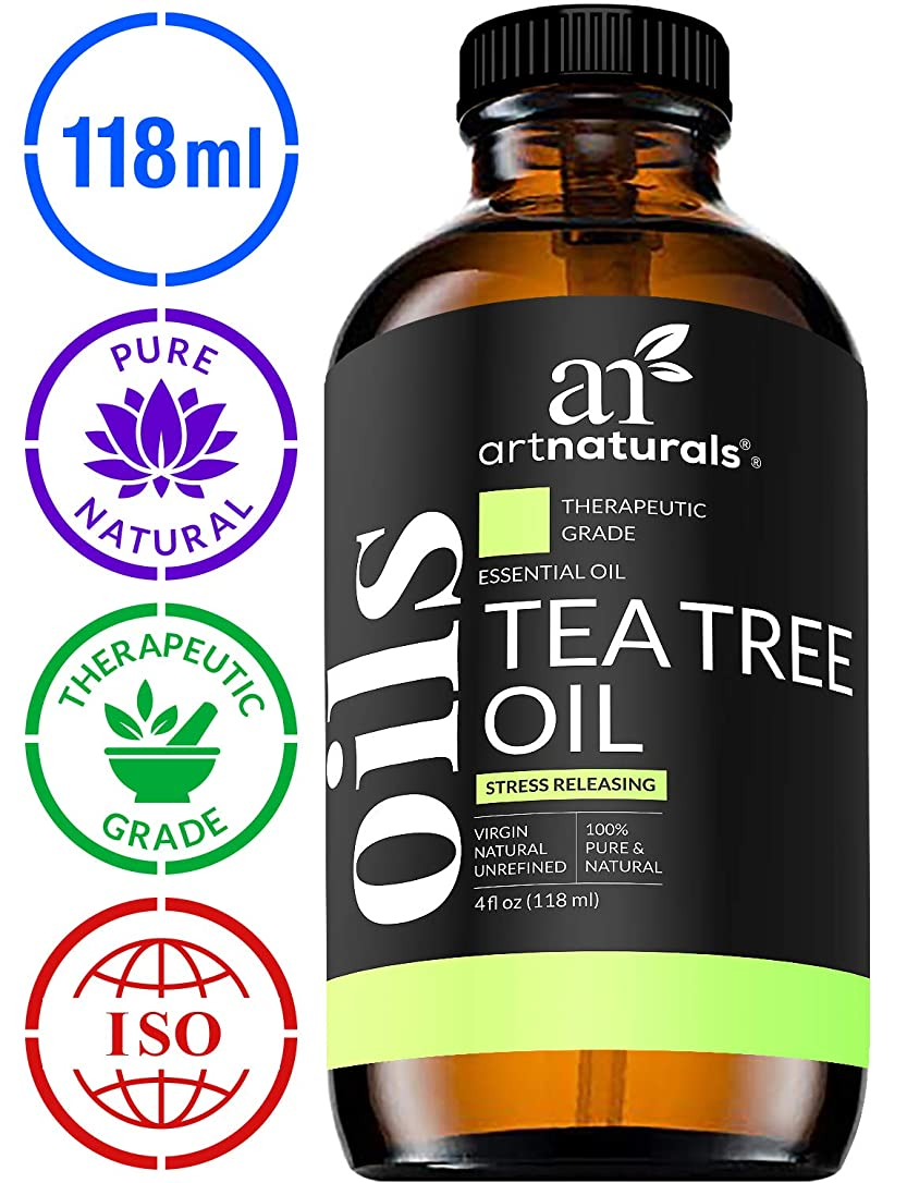 水差し追加する統合ArtNaturals Tea Tree Essential Oil - 4 oz Pure and Natural Premium Melaleuca Therapeutic Grade
