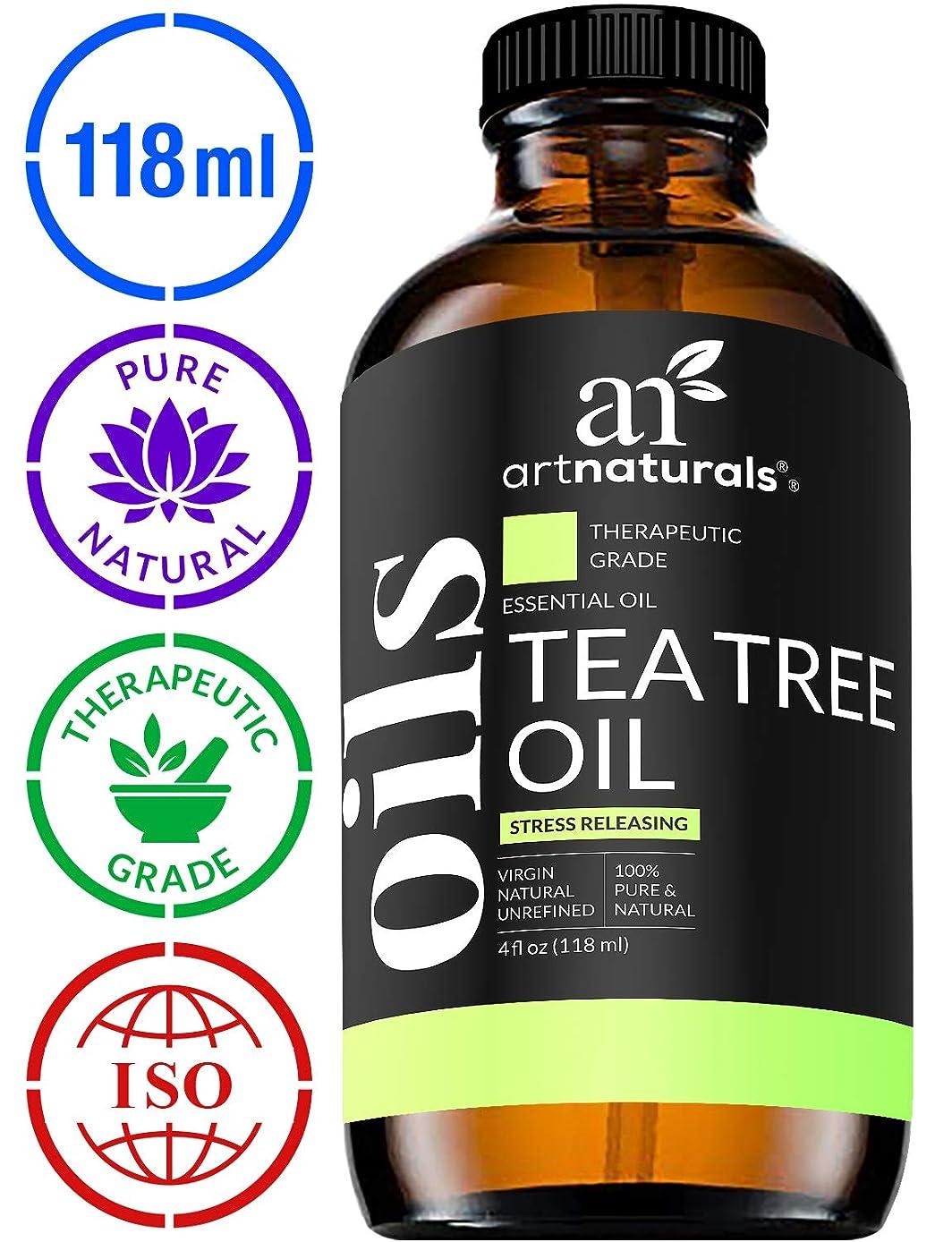 流す北方郵便局ArtNaturals Tea Tree Essential Oil - 4 oz Pure and Natural Premium Melaleuca Therapeutic Grade