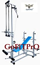 GoFiTPrO 20 in 1 Multipurpose Exercise 2x2 Pipe Size Home Gym Bench with Double Support, (Silver)