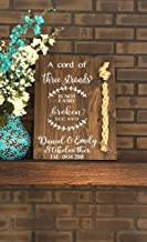 CELYCASY A Cord of Three Strands Sign-Alternative Wedding Unity Sign -Tie The Knot Ceremony-Strand of Three Cords Sign-Unity Cord Wedding Sign