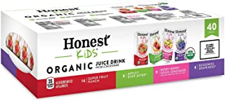 Honest Kids Organic Fruit Juice Drink Boxes, Assorted Flavors 6 oz, 40 ct.