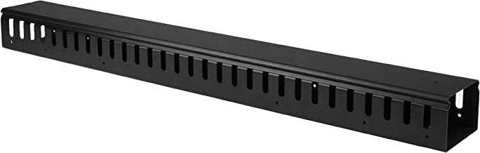 StarTech.com Vertical Cable Organizer with Finger Ducts - Vertical Cable Management Panel - Rack-Mount Cable Raceway - 0U - 3 ft. (CMVER20UF)