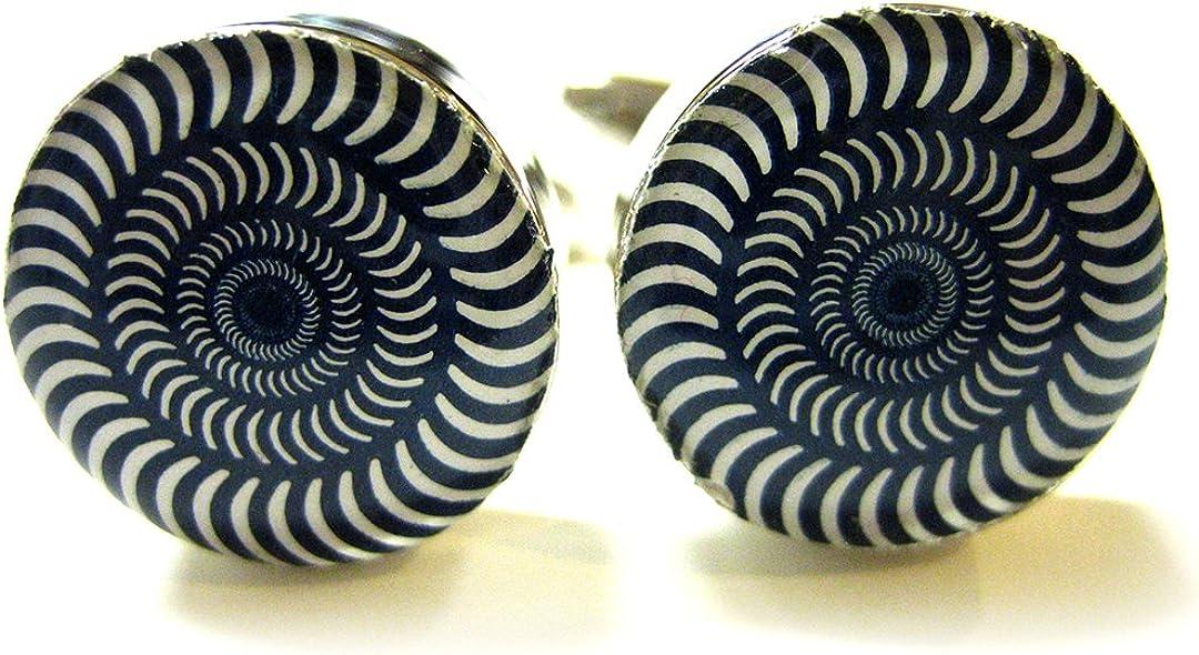 half Concentric Circle Cufflinks 4 years warranty