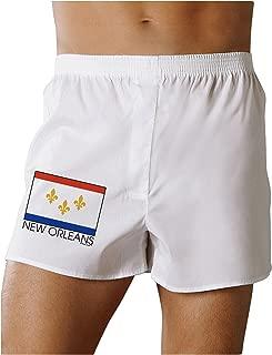 New Orleans Louisiana Flag Text Boxers Shorts