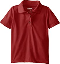 (9851) Genuine School Uniforms Girls Cotton Picot Edge Stretch Knit Polo Top (Sizes 4-16) in Red Size: M (5/6)