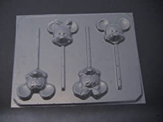 Famous Male and Female Mouse Face Chocolate Candy Lollipop Mold Mickey Minnie