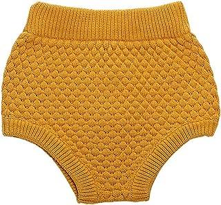 Wennikids Toddler Baby Boys & Girls Pumpkin Pants Knit Baby Bloomers Shorts