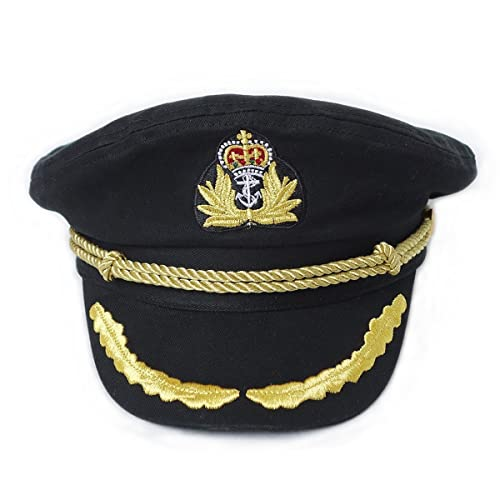 Geekbuzz Navy Captain Hat Unisex Adjustable Naval Costume Sailor Cap for Men  Women Adult 5fed540a0c7d