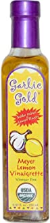 Garlic Gold, Delicious Organic Meyer Lemon & Extra Virgin Olive Oil Vinaigrette Salad Dressing and Marinade - Soy Free, Ca...