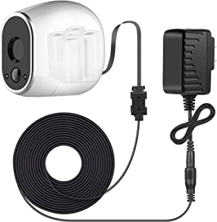 Sumind Adapter and 20 ft/ 6 m Outdoor Weatherproof Power Cable Compatible with Arlo, Replace The Arlo Batteries (CR123A) t...