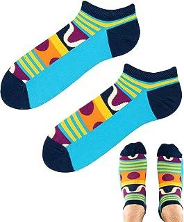 TODO COLOURS - Calcetines divertidos para zapatillas - Divertidos piruletas de colores - Calcetines tobilleros con diseño