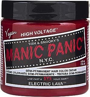 Manic Panic Cream Formula Semi, Permanent Hair Color, Electric Lava, 4 oz