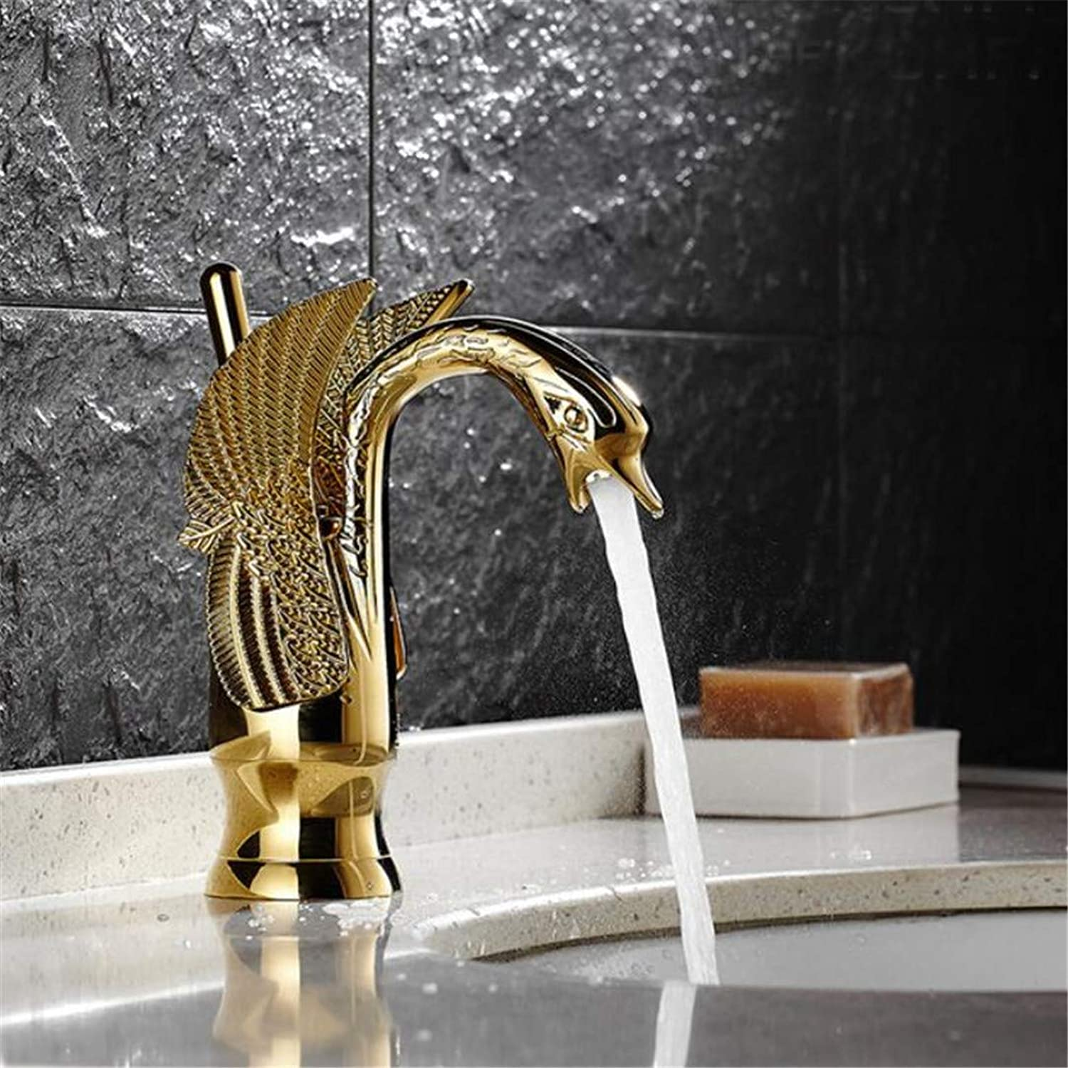 Faucet Washbasin Mixer Deck Mounted Bathroom Sink Faucet Single Holehandle Crane with Cover Plate