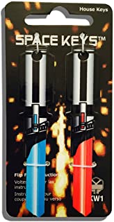 """Best Pair of Red and Light Blue Saber Shaped""""Space Weapon"""" Keys - Kwikset KW1 KW10 Review"""