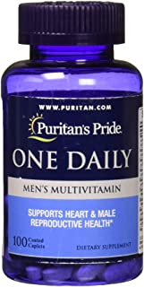 Puritans Pride One Daily Mens Multivitamin Caplets, 100 Count