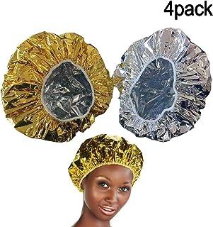 4PCS Bonnet Chauffant Pour Soins Capillaires, Bonnet du Salon Auto Chauffant Cheveux pour Masque-Charlotte auto chauffante...