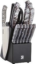 Sabatier 5255854 Triple Rivet Knife Block Set, 15-Piece, Black
