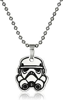 "Star Wars Jewelry Boys' Rebel Stormtrooper Chain Pendant Necklace, 17"""