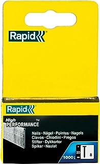 Rapid 40303066 roestvrij stalen spijkers type 8/30 mm, 1.000 stuks doos, 40 mm, 1000 stuks
