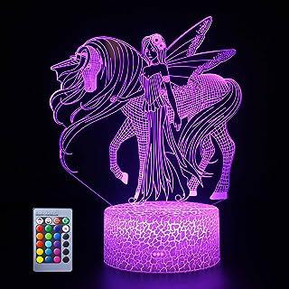 商品名称  Lámpara de unicornio 3D LED con ilusión óptica con mando a distancia inteligente, 16 colores RGB para fiestas de Navidad, regalos para niñas y niños, decoración del hogar o el escritorio