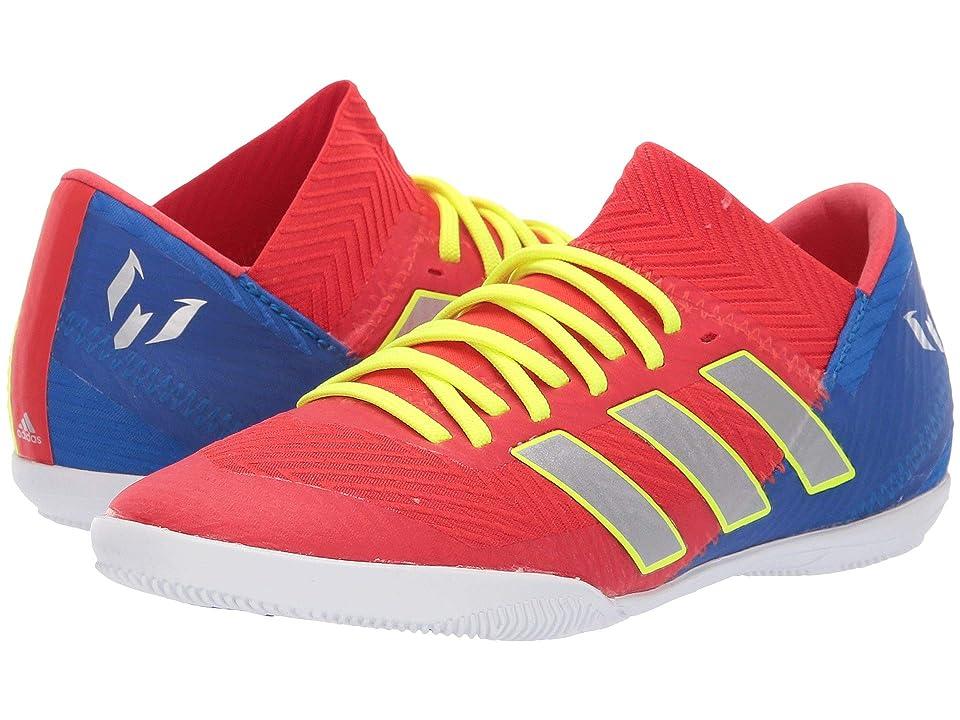 adidas Kids Nemeziz Messi 18.3 IN Soccer (Little Kid/Big Kid) (Active Red/Silver/Blue) Kids Shoes