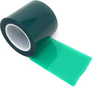 APT, (4'' X 72 Yds, Green), 2 Mil Polyester Tape with Silicone Adhesive, PET, Mylar Tape, high Temperature Tape, 3.5 mil Thickness, Powder Coating, E-Coating, Anodizing, high Temp Masking (4 inch)