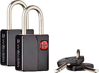 Wenger 604567 Key Travel Luggage Lock 2 Piece Set, Black, 5 Centimeters