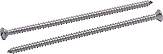 Stainless Oval Head Phillips Wood Screw, (Choose Size), 18-8 (304) Stainless Steel Screws by Bolt Dropper (4 Inch)